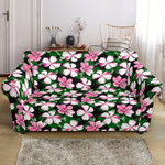 Hibiscus Pink Flower Hawaiian Pattern Sofa Cover