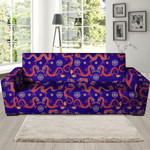 Blue Chinese Dragon Hoodie Pattern Sofa Cover