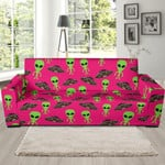 Alien Pink Pattern Artistic Sofa Cover