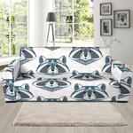 Grey Face Raccoon Theme Sofa Cover