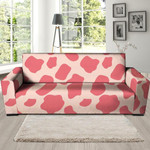 Light Pink Cow Pattern Print Sofa Cover