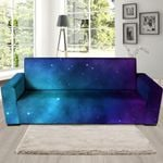 Blue And Purple Galaxy Space Sofa Cover