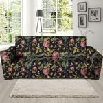 Janpanese Floral Dragon Pattern Print Sofa Cover