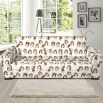 Dog Shih Tzu Pattern Background Sofa Cover