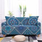 Mandala Floral Pattern Wonderful Style Royal Blue Theme Sofa Cover