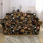 Steampunk Butterfly Brown Design Pattern Sofa Cover