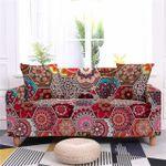 Bohemian Geometric Hexagon Floral Texture Sofa Cover