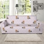 Cute Yorkshire Terrier Dog Puppy Theme Sofa Cover