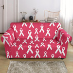 Breast Cancer Awareness Symbol Pattern Sofa Cover