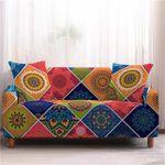 Bohemian Mandala Sunflower Pattern Colorful Design Sofa Cover