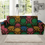 Dream Catcher Colorful Feather Sofa Cover