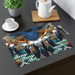Tribal Great Sky Dancer Owl Printed Placemat Table Mat
