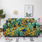Gorgeous Design Yellow Flower And Leave Texture Sofa Cover
