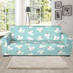 White Rubber Duck Pattern Sofa Cover