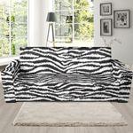 White Tiger Skin Pattern Sofa Cover