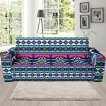 Colorful Navajo Indians Aztec Theme Sofa Cover