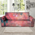 Red Cloud Galaxy Space Realistic Sofa Cover