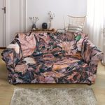 Camouflage Realistic Tree Lively Leave Pattern Sofa Cover
