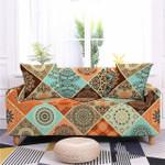 Mandala Square Floral Texture Devastating Design Sofa Cover