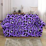 Leopard Purple Skin Texture Pattern Sofa Cover