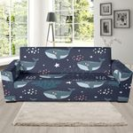 Whale Humpback Pattern Sofa Cover