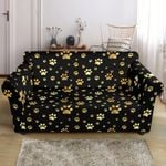 Paw Gold And Black Skin Print Sofa Cover