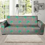 Cartoon Palm Tree Hawaiian Pattern Print Sofa Cover