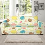 Macaroon Cake Sweet Cream Background Pattern Sofa Cover