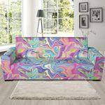 Rainbow Marble Pattern Theme Sofa Cover