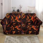 Red Dreamcatcher Native American Design Sofa Cover