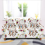 Many Colorful Dreamcatchers White Theme Sofa Cover