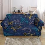 Sea Turtle Baby Pattern Print Sofa Cover