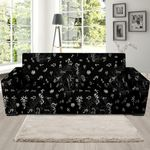 Alchemy Gothic Witch Doodle Pattern Sofa Cover