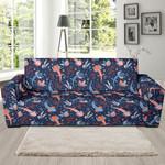 Axolotl Blue Pattern Theme Sofa Cover