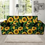 Sunflower Ornamental Artistic Theme Sofa Cover