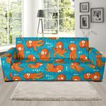 Cute Octopus Tentacle Squid Pattern Theme Sofa Cover
