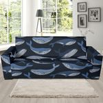 Humpback Whale Pattern Background Sofa Cover