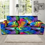 Rose Colorful Rainbow Pattern Theme Sofa Cover