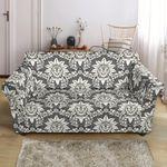 Damask Eglegant Grey Pattern Sofa Cover