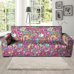 Colorful Pink Hippie Psychedelic Sofa Cover