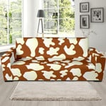 Skin Cow Brown Pattern Background Sofa Cover