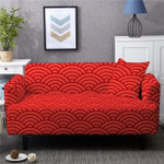 Spandex Luxury Abstract Art Red Background Sofa Cover