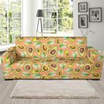 Orange Avocado Patttern Theme Sofa Cover