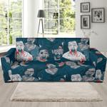 Zombie Halloween Pattern Theme Sofa Cover