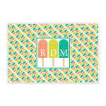 Custom Name Printed Placemat Table Mat Popsicle Laminated Ice Cream