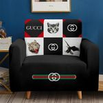 Cat Eagle Tiger Black Pattern Sofa Cover