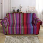 Colorful Serape Stripe Pattern Print Sofa Cover