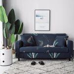 Simple Elegant Design Dark Blue Theme Sofa Cover