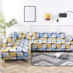 Blue And Yellow Design Sofa Cover