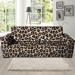 Brown And Black Leopard Print Sofa Cover